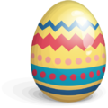 Easter egg yellow red blue-512.png